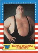 1987 WWF Wrestling Cards (Topps) King Kong Bundy 15