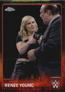 2015 Chrome WWE Wrestling Cards (Topps) Renee Young 55