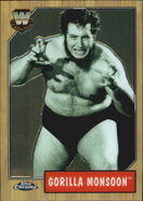 2008 WWE Heritage III Chrome Trading Cards Gorilla Monsoon 81
