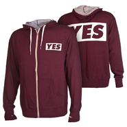 Daniel Bryan YES Maroon Lightweight Full-Zip Sweatshirt