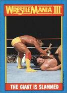 1987 WWF Wrestling Cards (Topps) The Giant Is Slammed 54