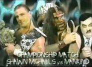 Shawn Michaels vs Mankind