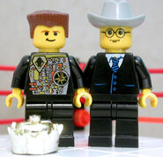 Lego Jerry ''The King'' Lawler and Lego Jim Ross
