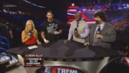 Renee Young, Wade Barrett, Titus O' Neil & Mick Foley - Extreme Rules 2013 panelist team