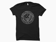 NJPW Lion Mark Grey Logo Black T-Shirt