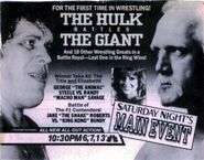 Saturday Night's Main Event X Ad