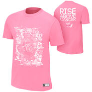 Christian Rise Above Cancer Pink T-Shirt