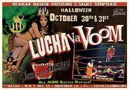 Lucha VaVoom Halloween 2013 Poster