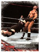 2017 WWE Road to WrestleMania Trading Cards (Topps) Cesaro 75
