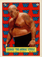 1987 WWF Wrestling Cards (Topps) Sticker George Steele 21
