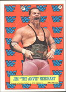 1987 WWF Wrestling Cards (Topps) Sticker Jim Neidhart 20