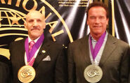 Arnold Schwarzenegger & Bruno Sammartino WWE HOF 2013