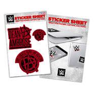 Dean Ambrose This Lunatic Runs The Asylum Sticker Sheet