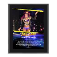 Sasha Banks FastLane 2017 10 X 13 Commemorative Photo Plaque