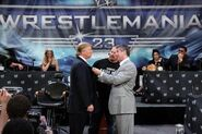 Donald Trump & Vince McMahon face-off
