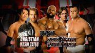Christian & Yoshi Tatsu vs Ezekiel Jackson & Vladimir Kozlov