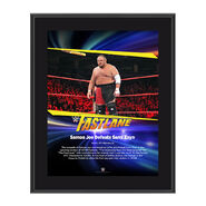 Samoa Joe FastLane 2017 10 X 13 Commemorative Photo Plaque