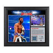 Zack Ryder WrestleMania 32 15 x 17 Framed Ring Canvas Photo Collage