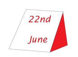 22nd June
