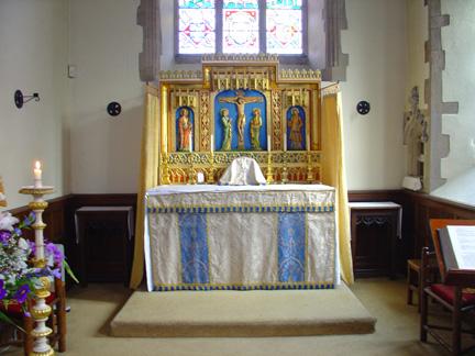 Slipper chapel altar