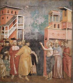 Giotto - Legend of St Francis - -05- - Renunciation of Wordly Goods