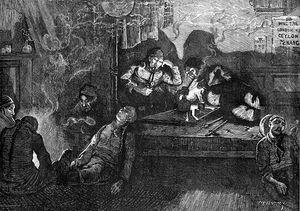 Opium smoking 1874