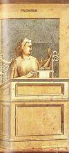 Giotto - Scrovegni - -40- - Prudence