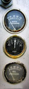 Water temperature amp oil pressure