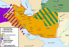 Map Safavid persia
