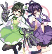GAN-rakugaki-art-(November 2015)-Hinata-Sisters