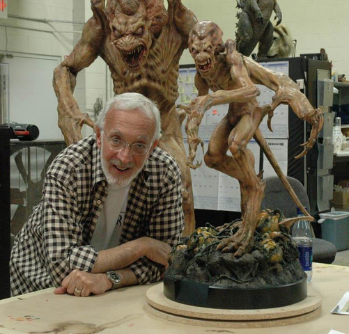 File:Stan Winston and Pumpkinhead Maquette.png