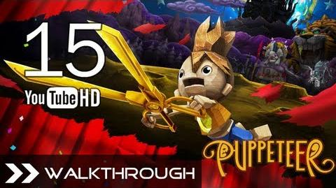 Puppeteer Walkthrough - Gameplay Part 15 (Fear of the Dark - Act 5 Curtain 3 - Robo-Dog Boss) HD 1080p PS3 No Commentary
