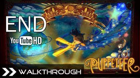 Puppeteer Walkthrough - Ending (The Tyrant King - Act 7 Curtain 3 - Moon Bear King Final Boss) HD 1080p PS3 No Commentary