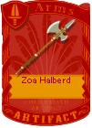 Zoa halberd