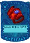 Lava triple ring