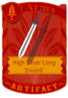 High Silver Long Sword