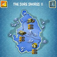 THE SORE SHORES II map