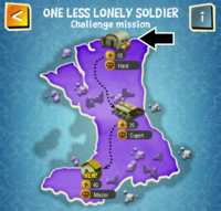 ONE LESS LONELY SOLDIER (HARD) map