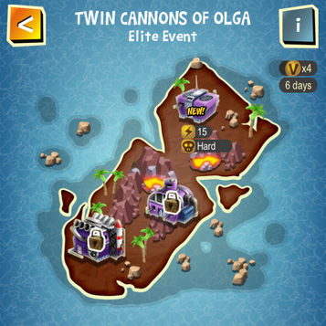 TWIN CANNONS OF OLGA map