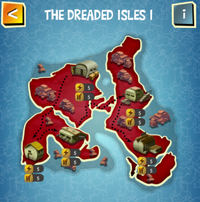 THE DREADED ISLES I map