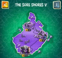 THE SORE SHORES V map