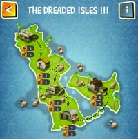 THE DREADED ISLES III map