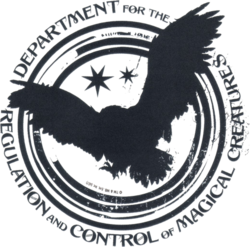 Department for the Regulation and Control of Magical Creatures logo