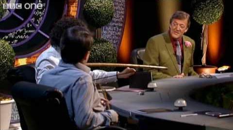 Alan Davies Destroys The Set - Preview - QI - BBC One