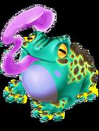 Blue Gobble Frog transparent
