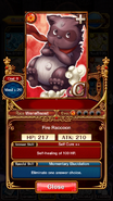 Fire Raccoon info