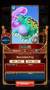 Blue Gobble Frog 1