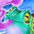 Blue Gobble Frog Icon