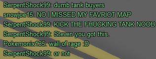 Tank buyer rage