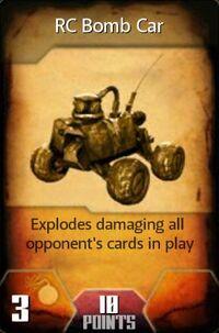 RC Bomb Car (Card)